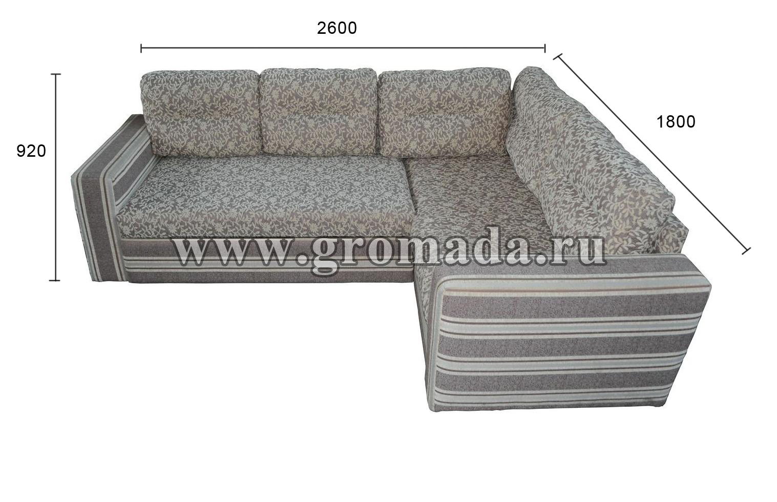 Угловой диван Леон (экокожа
